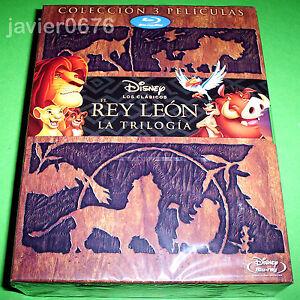 EL REY LEON LA TRILOGIA EN BLU-RAY PACK NUEVO Y PRECINTADO DISNEY