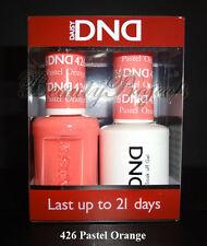 DND Daisy Soak Off Gel Polish Pastel Orange 426 full size 15ml LED/UV gel duo