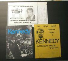 *RARE 1968 ROBERT KENNEDY L.A. HANDBILLS – BYRDS –SONNY & CHER –MAHALIA JACKSON*