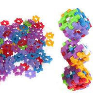 Plastic Kids Square Block 100pcs with Pouch, Building Construction Toy