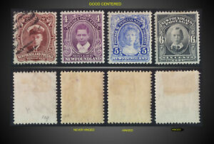 1911 Newfoundland LOT USED MINT NEVER H , HINGED SCT 106.107.108,109 SG. 119-122