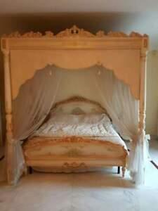 SILIK - ITALY ORIGINAL SILIK BAROQUE STYLE BED WITH CANOPY # JA12