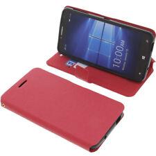 Funda para Alcatel one touch Idol 4 Pro Book Style Protectora de móvil ROJO