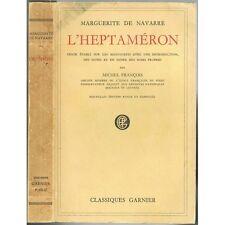 L'HEPTAMÉRON Texte d'aorès MANUSCRITS Marguerite de NAVARRE par Michel FRANÇOIS