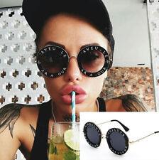 Unisex Women Round Circle Sunglasses Glasses Oversized Shades Fashion Vintage