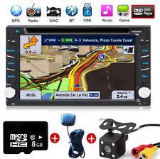 """6.2"""" Car Stereo Double 2 Din In Dash CD DVD Player Radio GPS SAT NAV+Rear Camera"""