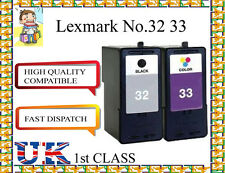 REMANUFACTURED Lexmark 32 & 33 Ink Cartridges for LEXMARK PRINTER