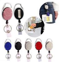 Retractable Keychain Badge Reel Clip Name ID Card Belt Keyring Bag Chain ClipYAN