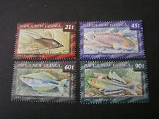 PAPUA NEW GUINEA, SCOTT # 810-813(4),1993 COMPLETE FRESHWATER FISH ISSUE MVLH