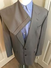PETER BARTON BIGSBY & KRUTHERS MENS KHAKI WOOL SUIT 2 BUTTON 44L, 36X29