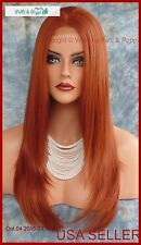 LONG STRAIGHT LACE FRONT WIG COLOR 130 RED *DAZZELING HOT LONG STYLE 140