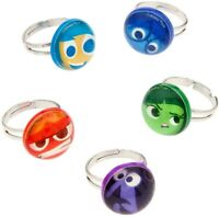 Disney Authentic Inside Out Mood Ring 5pc Set Joy Sadness Anger Fear Disgust