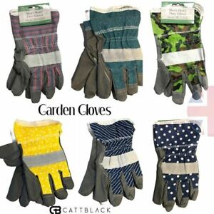 Gardening Gloves Thorn Proof Heavy Duty Rigger Men Woman Camo Pin Stripe Polka