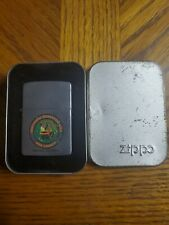 WORKING Vintage Zippo Lighter TOBESOFKEE RECREATIONAL AREA MACON GEORGIA In Box