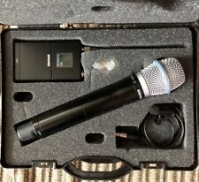 Shure wireless Microphone kit: UR1 Tx w/ Mic and UR2/BETA87A HH Tx in case, J5