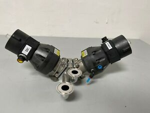 """ITT Pure-Flo A209 3-way Stainless Steel Valves w/  Position Monitors & 2"""" Fit"""