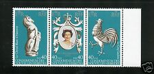 New Hebrides (French) Complete MNH Strip of 3 #278 a-c Coronation Stamps