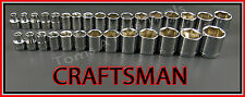 CRAFTSMAN HAND TOOLS 30pc LOT 3/8 6pt SAE & METRIC MM ratchet wrench socket set