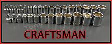 CRAFTSMAN HAND TOOLS 30pc LOT 3/8 6pt SAE & METRIC MM ratchet wrench socket set