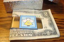 ANGEL Medallion Stainless Steel Money Clip Enameled Metal Muli-Color Emblem