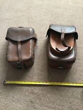 PAIR OF GERMAN LEATHER HORSE SADDLE BAGS/ PANIERS. DATED 1938 MADE BY L& F.