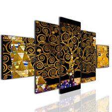 Quadri famosi Gustav Klimt L'albero della vita black version stampa su tela