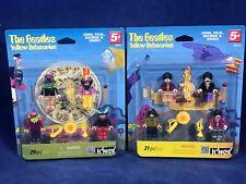K'NEX BEATLES Mini-Figures - YELLOW SUBMARINE & SGT PEPPER'S -8 KNEX FIGURES NEW