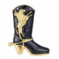 Christmas Cowboy Boot Horse Rodeo Lover Brooch Pin New Year Gift Women Jewelry