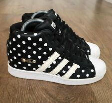 ADIDAS SUPERSTAR 80's PRO MODEL WEDGE UP WOMENS TRAINERS UK 7 BLACK WHITE RARE