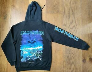 Vintage 2000 Iron Maiden London Graphic Hoodie L