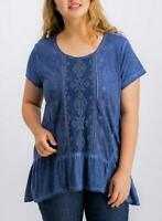 Style & Co Women's Plus Size Embellished Scoop-Neck Top, Different Colors & Size