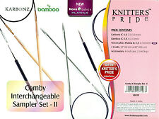 Knitter's Pride Comby Interchangeable Sampler Needle Set II 3 Pairs