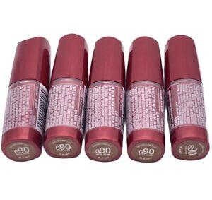 LOT OF 5 G90 ROSE HUSH Maybelline Moisture Extreme Lipstick SLIGHTLY NICKED TIP
