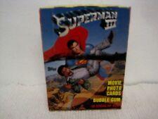 1983 Topps SUPERMAN III COMPLETO CERA CONFEZIONE 36 pezzi SCATOLA