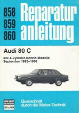 REPARATURANLEITUNG 858/859/860: AUDI 80 C alle 4-Zylinder-Benzin-Modelle 1983-86