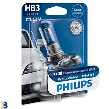Philips HB3 WhiteVision car headlight bulb 12V P20d HB3 9005WHVB1 9005 Pack of 1