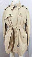 Women's London Fog Button Trench Coat Khaki Size L
