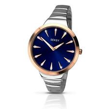SEKSY 2216 Ladies Radiance Crystal Set Blue Dial Bracelet Watch RRP £89.99