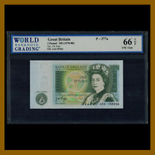 Great Britain (England) 1 Pound, ND 1978-1980 P-377a QE II WBG 66 TOP