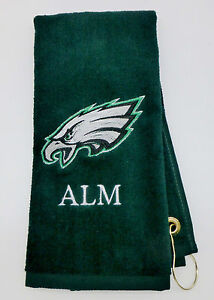 Personalized Embroidered Golf/Bowling Towel Philadelphia Eagles NFL