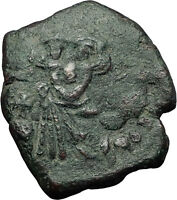 CONSTANS II Pagonatos 641AD Follis Syracuse Sicily Ancient Byzantine Coin i59275