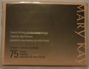 New & Sealed Mary Kay BEAUTY BLOTTERS OIL-ABSORBING TISSUES 75 SHEETS