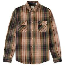 Lvc Levis Vintage Clothing década de 1950 Shorthorn Camisa Cuadros Verde, RRP £ 160 BNWT