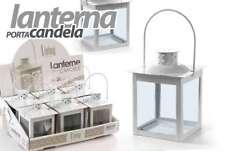 LANTERNA PORTACANDELA PORTA CANDELA TEA LIGHT IN METALLO BIANCO GICOS