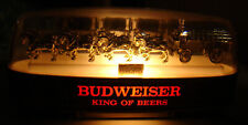 OLD Budweiser Clydesdale King of Beers Bar Light Anheuser Busch Breweriana USA