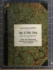 1906 PHILADELPHIA POLICE GAMEWELL CALLBOX TELEGRAPH RULES AND REGS MANUAL