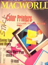 Macworld Magazine Color Printers Faster And Better April 1992 121817nonrh