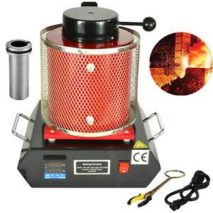 Hornos eléctricos de fusion 2 kg Crisol de grafito 220V Refractarios  Goldsmith