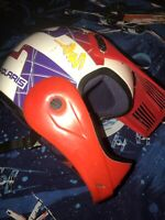 Vintage 90s BELL GR1250 Trailstar HELMET POLARIS Racing Italy Made SZ 7 1/4