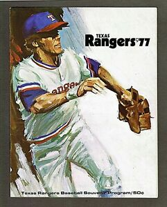 1977 Texas Rangers vs Oakland Athletics Scorecard UNSCORED, Gaylord Perry